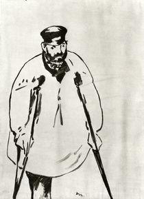 Manet, Mann an Krücken, Zeichnung 1878 von AKG  Images
