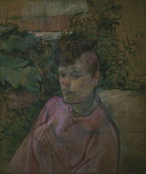Toulouse-Lautrec / Woman in Garden by AKG  Images