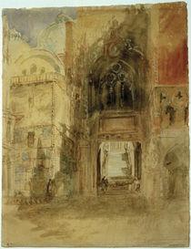 Venedig, Porta d. Carta / Aquarell v. Turner von AKG  Images