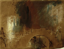 Venedig, Brücke / Aquarell v. Turner
