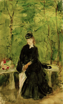 B.Morisot, Edma, sitting in a park 1864 by AKG  Images