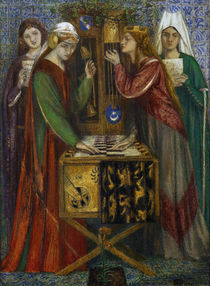 Rossetti / The Blue Closet / Painting by AKG  Images