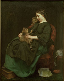 L.Knaus / Die Katzenmutter / 1856 by AKG  Images