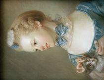 J.B.Perronneau, Mädchen mit Katze von AKG  Images