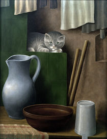 Schrimpf / Still Life with Cat / 1923 by AKG  Images