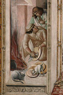 The Sacrament / Kitchnen / P. Lorenzetti / Fresco, c.1325/30 by AKG  Images