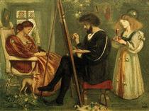 The Painter's Pleasaunce / S.Solomon / Watercolour, 1861 by AKG  Images