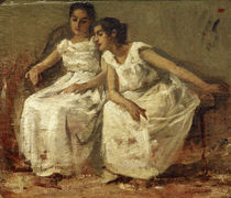 F.Miralles Y Gallup, Two girls sitting by AKG  Images