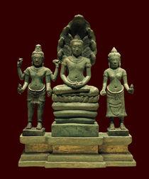 Mahayana-buddhistische Triade / Khmer-Kunst 12/13. Jh. von AKG  Images