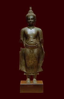 Buddha / Khmer-Kunst, Kambodscha, 14. Jahr. (?) von AKG  Images