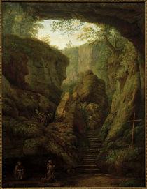 J.Ph. Hackert, Grotte des Hl. Franziskus a. d. Monte Verna von AKG  Images