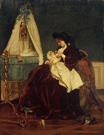 Alfred Stevens, Die Frau des Künstlers und Sohn Léopld von AKG  Images