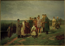 N.D.Dmitrijew-Orenburgski, Visitierung eines Ertrunkenen by AKG  Images