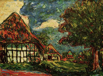 E.L.Kirchner, Fehmarn-Häuser von AKG  Images