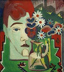 E.L.Kirchner, Müllerkopf mit Blumen von AKG  Images