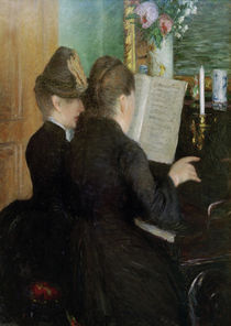 G.Caillebotte, The piano lesson. by AKG  Images