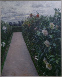 Caillebotte / Garden Path / Painting by AKG  Images