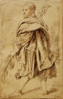 P.P.Rubens, Study of a Halberdier / Draw. by AKG  Images
