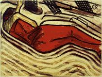 Ch. Rohlfs, Schlafende in Rot von AKG  Images