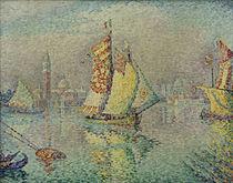 P.Signac, Lagune. Gelbes Segel von AKG  Images