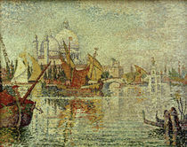 Boats Moored in the Giudecca Canal / P. Signac / Painting 1904 by AKG  Images