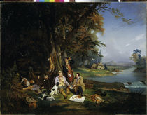 Hunters at Rest / Painting / Willewalde by AKG  Images