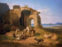 C.W. v. Heideck, Landschaft mit Ruine by AKG  Images