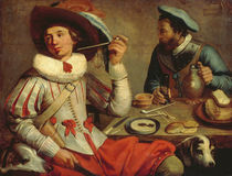 J.G.Cuyp, Two soldiers at a table. by AKG  Images