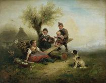 W.A.Meyerheim, Spielende Kinder.. by AKG  Images