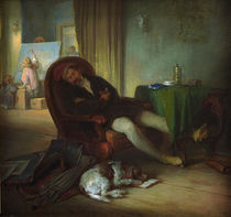 Danhauser, Josef / The sleeping painter by AKG  Images