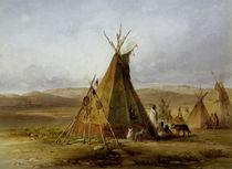 Lager der Assiniboin / Tipi / Karl Bodmer von AKG  Images
