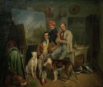 Die Brüder Benno, Franz u. Eugen Adam, Gem. von AKG  Images