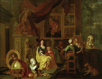 Flämischer Maler, Maler mit Familie by AKG  Images