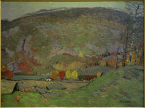 J.E.H.MacDonald, Laurentian Hillside, October von AKG  Images