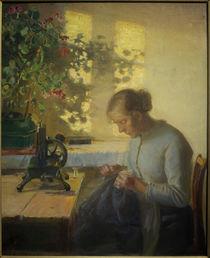 A.Ancher, Nähende Fischerstochter von AKG  Images