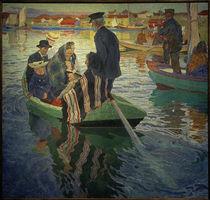 Carl Wilhelmson, Kirchgänger in einem Boot by AKG  Images
