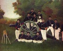 H.Rousseau, The Artillerymen, Section. by AKG  Images
