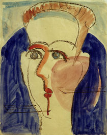 Ernst Ludwig Kirchner, Head of a woman by AKG  Images