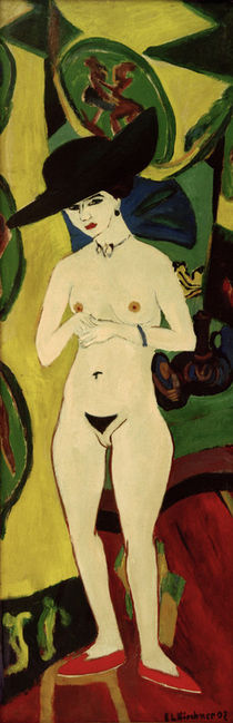 E.L.Kirchner / Standing Nude with Hat by AKG  Images