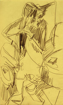 Ernst Ludwig Kirchner, Nude combing her hair by AKG  Images