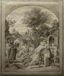 J.Schnorr v. Carolsfeld, Jakob und Rahel am Brunnen von AKG  Images