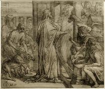 Schnorr-Bibel, David der Psalmist - Anbetung von AKG  Images