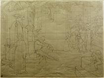 C.Brentano, Romanzen vom Rosenkranz / Skizze zu einem Wandbild v. E.Steinle by AKG  Images