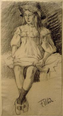 F.v.Uhde, Sitzendes Mädchen mit Hut von AKG  Images