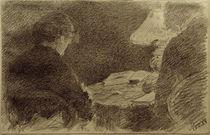 L.Eysen, Mary und Emma Eysen unter einer Tischlampe von AKG  Images