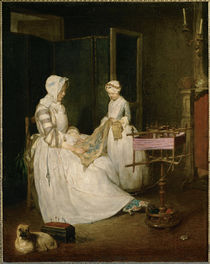 Chardin / The diligent Mother by AKG  Images