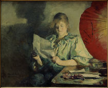 Harriet Backer, Abend, Interieur by AKG  Images