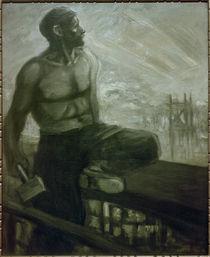 Th.-A.Steinlen, Der Zimmermann oberhalb des Hafens von AKG  Images