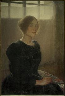 Elin Danielson-Gambogi, Selbstporträt / Gemälde, 1900 von AKG  Images