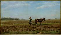 M.K.Klodt, Auf dem Acker / Gemälde, 1871 by AKG  Images